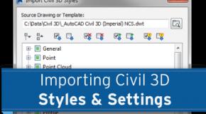 Import dữ liệu khảo sát trong Civil 3D