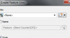 Bài 1A: Vẽ đường Feature line