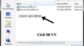 Cách mở mô hình với Naviswork Manager 2014