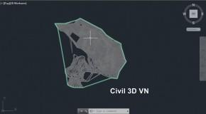 Cách lấy dữ liệu địa hình vào AutoCAD Civil 3D