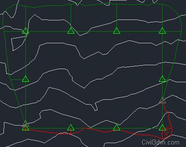 Cách tạo mái dốc cho bề mặt thiết kế trong san nền với Civil 3D